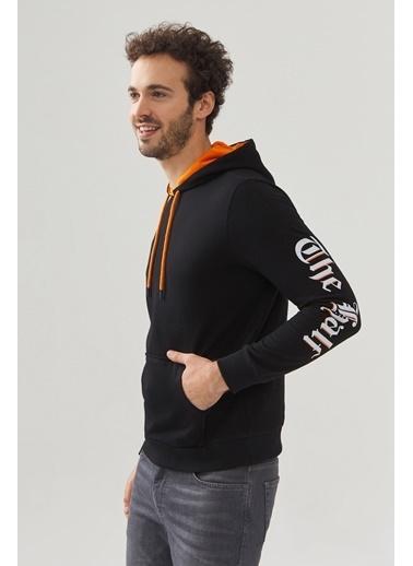 Avva Erkek  Kapüşonlu Sweatshirt A02Y1091 Siyah